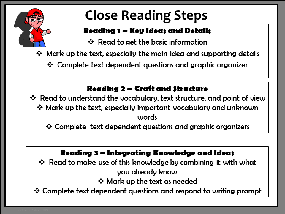 Close Reading Routine Chart