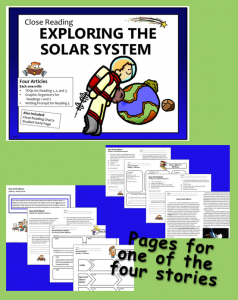 Close Reading,  Solar System - Four Articles