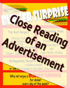 Close Reading of an Advertisement