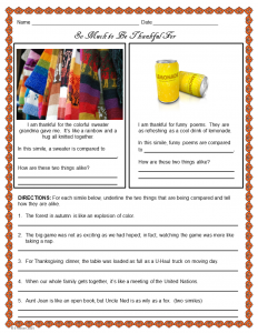 Thanksgiving Similes - Slide2