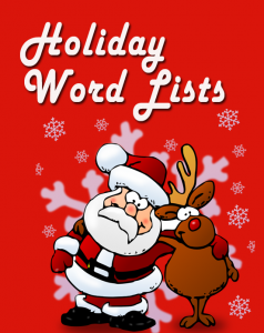 Winter Holiday Word Lists, from Classroom in the Middle