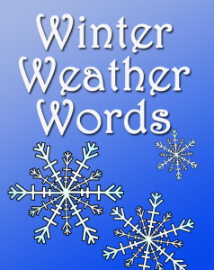 Winter Weather Words