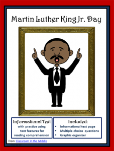 Martin Luther King Jr Day informational text resource