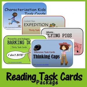 Reading Task Cards Package