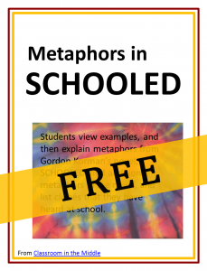 Metaphors in SCHOOLED, from Classroom in the Middle