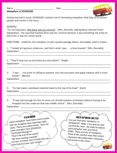 Metaphors in Schooled Activity Sheet