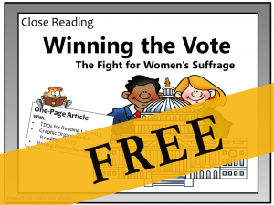 Close Reading - Winning the Vote FREE