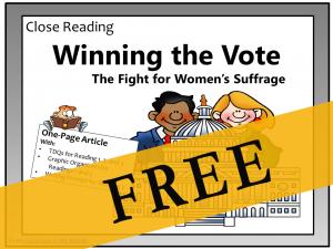 Close Reading - Winning the Vote FREE