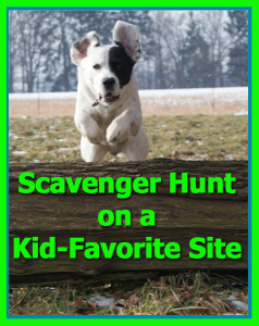 Scavenger Hunt on a Kid-Favorite Site