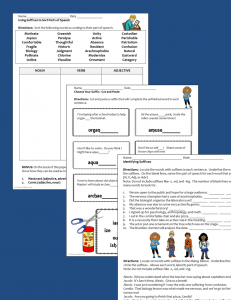 Suffixes Activities- Sample Pages