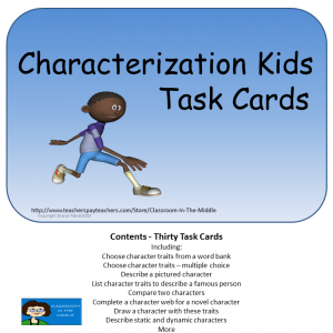 Characterization Task Cards, square cover