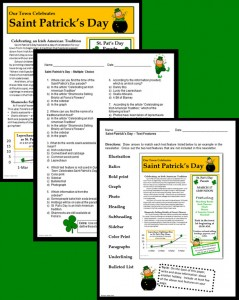 St. Patrick's Day informational Text Activity - pages