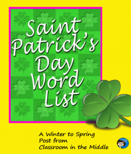 Saint Patrick's Day word list