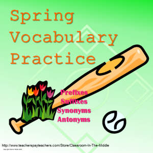 Spring Vocabulary Practice