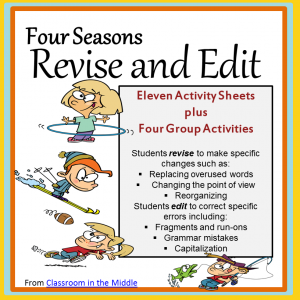 Four Seasons Revise and Edit Activities