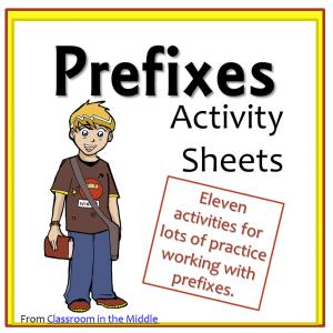 Prefixes Activity Sheets
