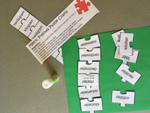 Metric Puzzle Pieces for Prefix Activities