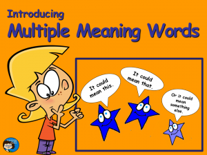 Multiple Meaning Words - Cover