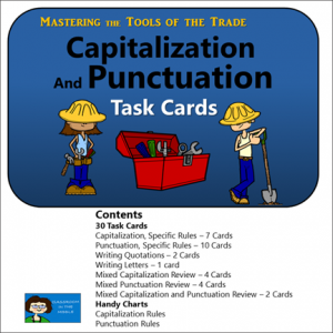 Capitalzation and Punctuation task cards