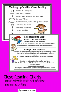Close Reading Charts pin