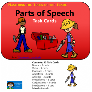 Parts of Speech task cards -