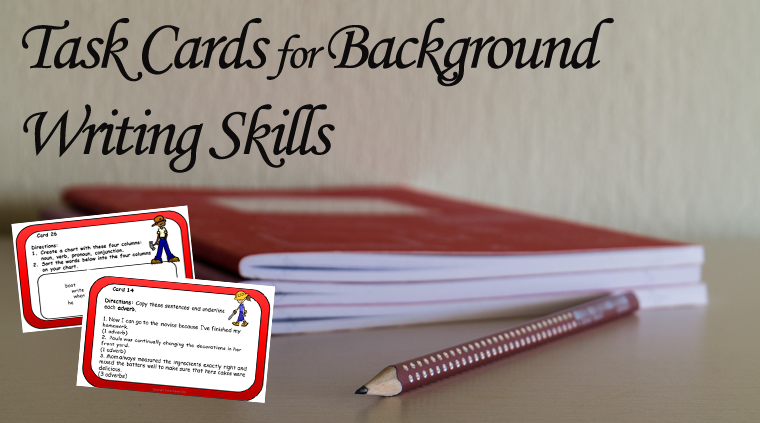 Task Cards for Background Writing Skills