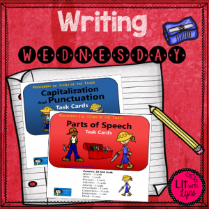 Task Cards for Background Writing Skills, from Classroom in the Middle