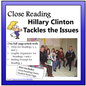 Close Reading - Hillary Clinton Tackles the Issues