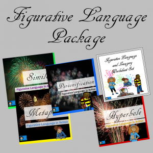 Figurative Language Package - PowerPoints and Worksheet Set