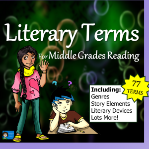 Literary Terms for Middle Grades Reading - PowerPoint