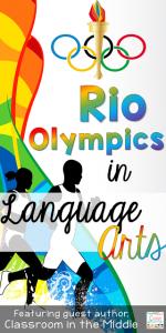 Rio Olympics and Language Arts Pin