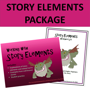 Story Elements Package - PowerPoint and Worksheet Set