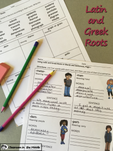 Latin and Greek Roots Activities