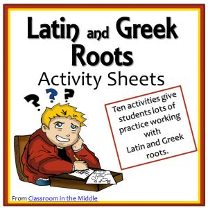 latin-and-greek-roots-activity-sheets