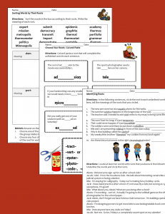 Latin and Greek roots - activity sheets sample pages