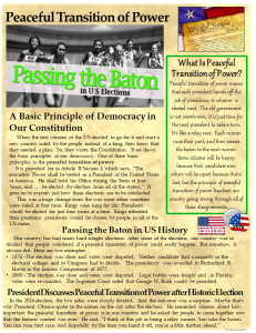 Informational Text - Peaceful Transition of Power