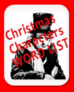 christmas-character-word-list