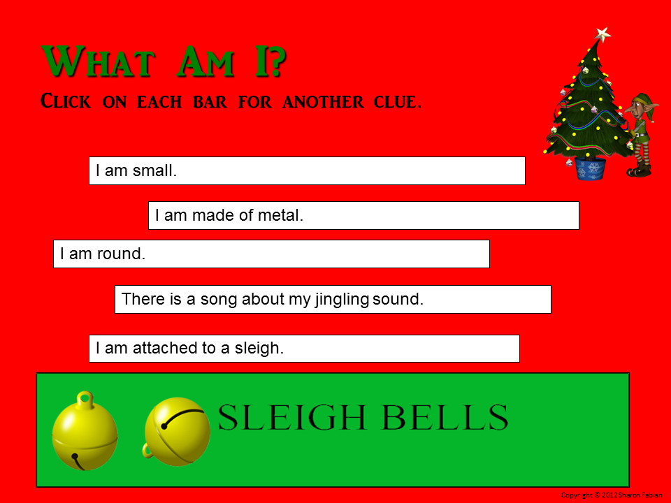 Christmas riddles sample slide