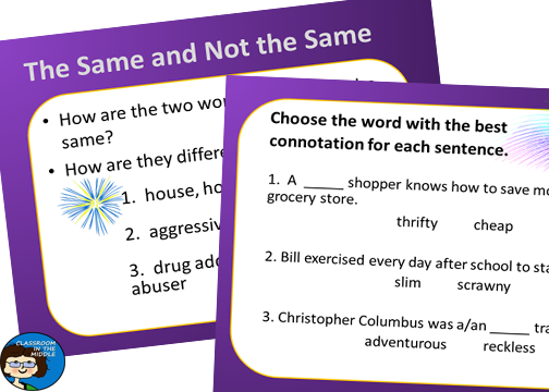 Teaching Connotations And Denotations