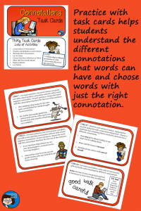 Connotations Task Cards pin