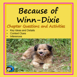 Because of Winn- Dixie Novel Study - cover