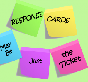 Response Cards May Be Just the Ticket pin
