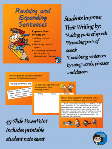 Revising and Expanding Sentences pin
