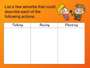 Adverbs Chart