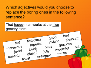 Replace Boring Adjectives