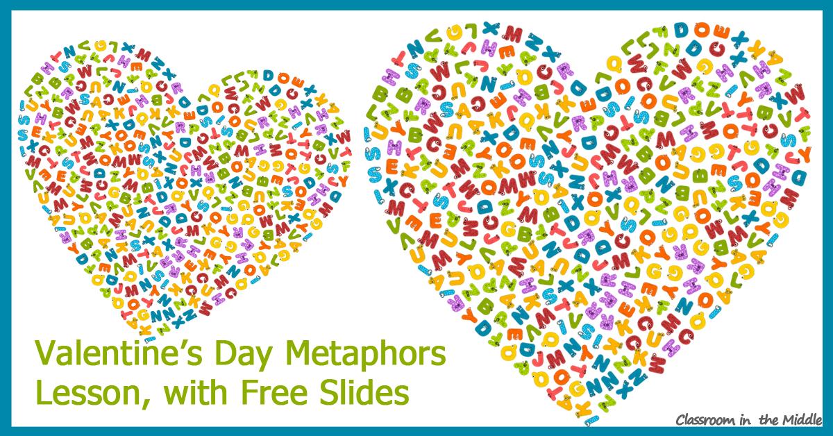 Valentine's Day Metaphors Lesson fb
