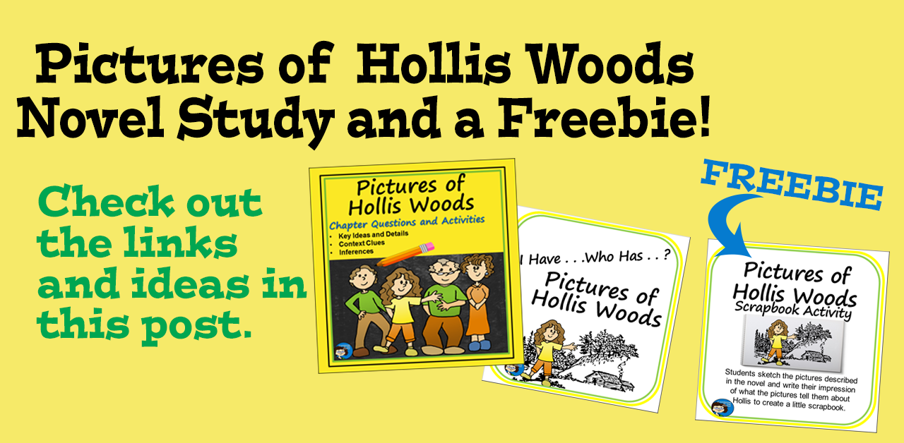 Pictures of Hollis Woods Novel Study and a Freebie