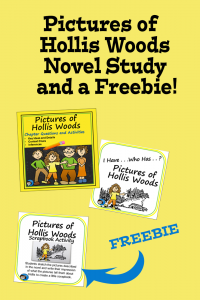 Pictures of Hollis Woods Novel Study and a Freebie pin