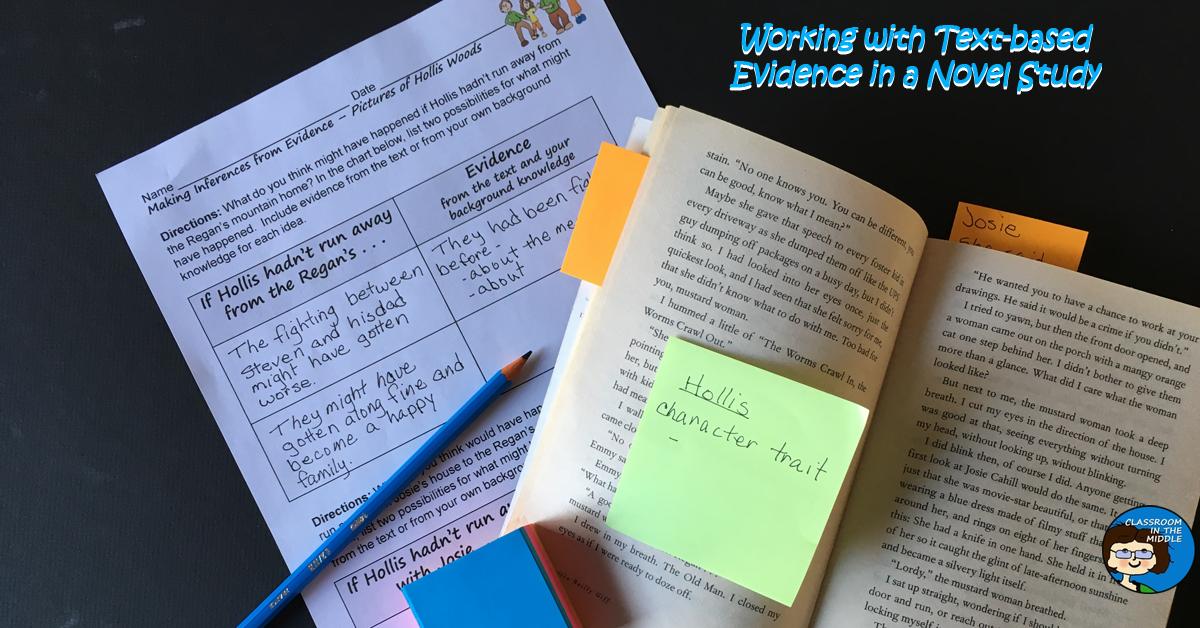 Text-based Evidence in Novel Studies