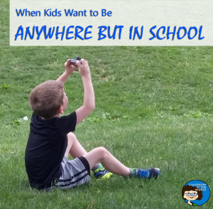 Anywhere But in School pin copy
